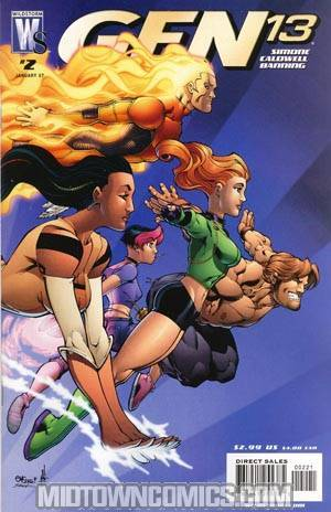 Gen 13 Vol 4 #2 Cover B Incentive Ed McGuiness Variant Cover