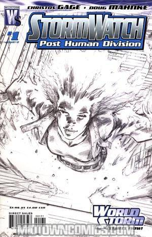 Stormwatch PHD #1 Cover C Incentive Trevor Hairsine Sketch Variant Cover