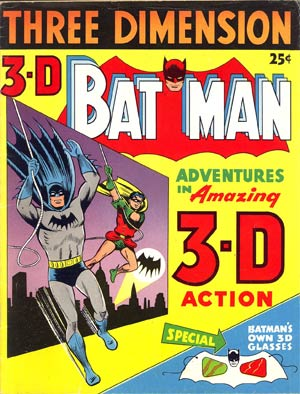 3-D Batman 1953 w/o glasses