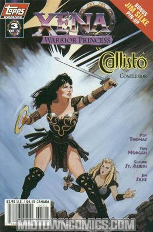 Xena Warrior Princess vs Callisto #3 Art Cvr w/ Pin-up