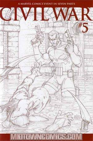 Civil War #5 Cover C Incentive Turner Sketch Variant Cover
