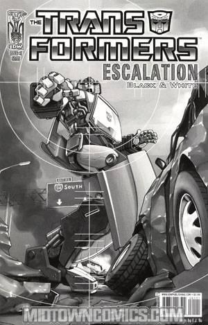 Transformers Escalation #1 Black & White Edition