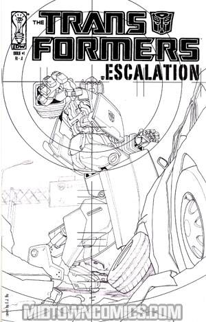 Transformers Escalation #1 Incentive EJ Su Sketch Cover