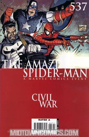 Amazing Spider-Man Vol 2 #537 Cover A 1st Ptg Regular Ron Garney Cover (Civil War Tie-In)