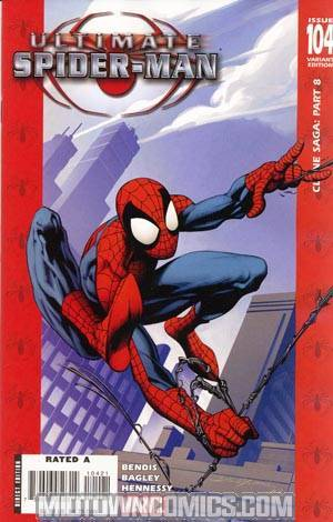 Ultimate Spider-Man #104 Cover B Incentive Red Mark Bagley Cover