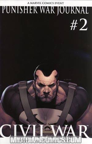 Punisher War Journal Vol 2 #2 Cover B 2nd Ptg Olivetti Variant Cover (Civil War Tie-In)