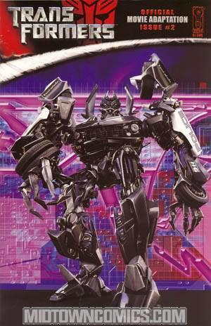 Transformers Movie Adaptation #2 Incentive Photo Cover