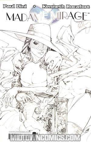 Madame Mirage #1 Cover C Incentive Kenneth Rocafort Black And White Cover