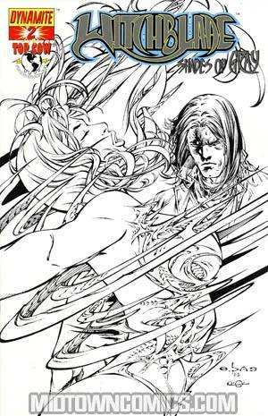 Witchblade Shades Of Gray #2 Incentive E-Bas Black And White Cover