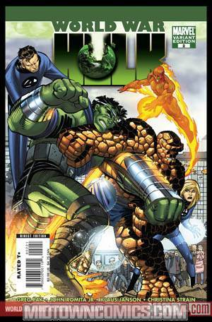 World War Hulk #2 Cover B Incentive John Romita Jr Variant Cover