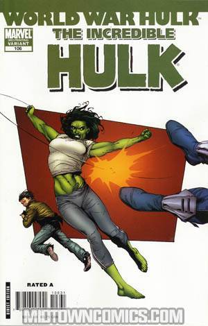 Incredible Hulk Vol 2 #106 Cover C 3rd Ptg Variant Cover (World War Hulk Tie-In)