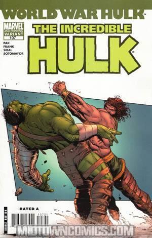 Incredible Hulk Vol 2 #107 Cover B 2nd Ptg Gary Frank Variant Cover (World War Hulk Tie-In)