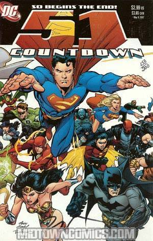 Countdown #51 Cover B DF Signed By Keith Giffen