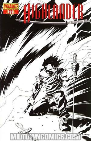 Highlander #11 Incentive Michael Avon Oeming Sketch Cover