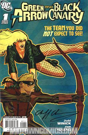 Green Arrow Black Canary #1 DF Signed By Cliff Chiang