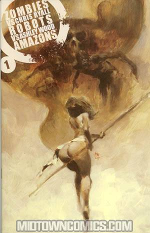 Zombies vs Robots vs Amazons #1 Incentive Ashley Wood Variant Cover