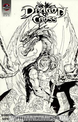 Dragon Cross #2 Incentive Black And White Variant Cover