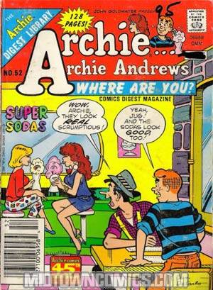 Archie Archie Andrews Where Are You Comics Digest Magazine #52