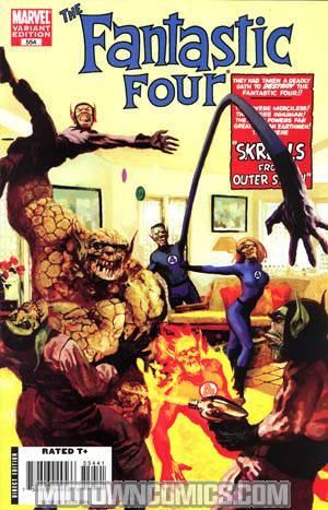 Fantastic Four Vol 3 #554 Cover B Incentive Arthur Suydam Skrull Variant Cover