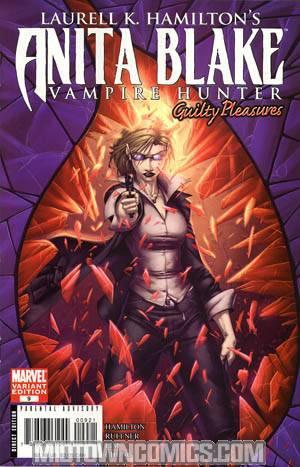 Anita Blake Vampire Hunter Guilty Pleasures #9 Cover B Incentive Brett Booth Variant Cover