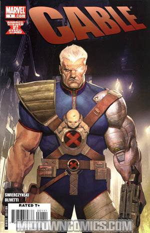Cable Vol 2 #1 Cover A Regular Ariel Olivetti Cover (X-Men Divided We Stand Tie-In)