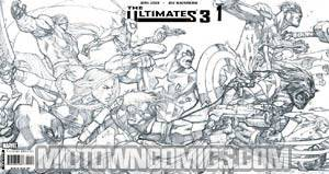 Ultimates 3 #1 Black And White Heroes Gatefold Variant Cover