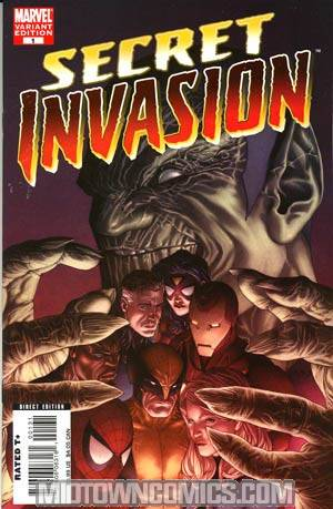 Secret Invasion #1 Cover B Incentive Steve McNiven Variant Cover