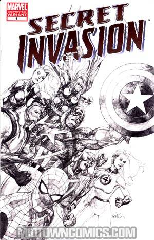 Secret Invasion #1 Cover K 3rd Ptg Leinil Francis Yu Variant Cover