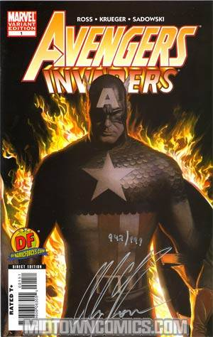 Avengers Invaders #1 DF Exclusive Alex Ross Variant Cover Signed By Alex Ross