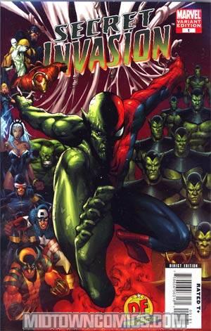 Secret Invasion #1 Cover M DF Exclusive Mel Rubi Variant Cover CGC 9.8