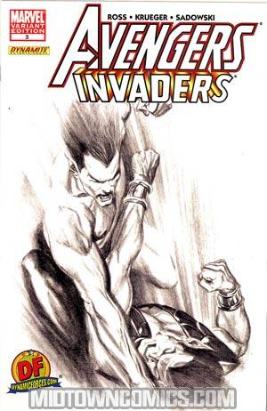 Avengers Invaders #3 DF Exclusive Alex Ross Sketch Variant Cover