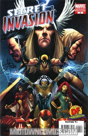 Secret Invasion #2 Cover F DF Exclusive Variant Mel Rubi Cover Signed By Mel Rubi