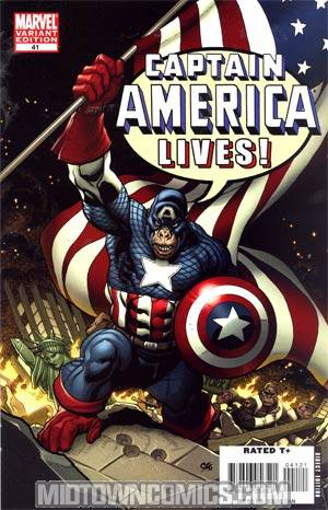 Captain America Vol 5 #41 Cover B Incentive Monkey Variant Cover