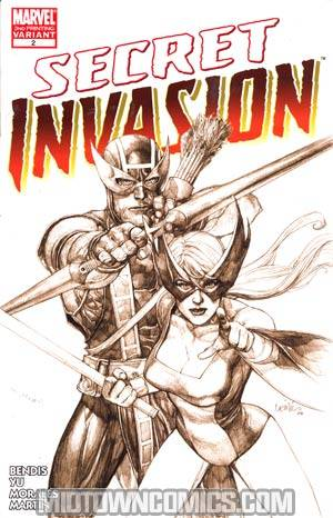 Secret Invasion #2 Cover H 3rd Ptg Leinil Francis Yu Variant Cover