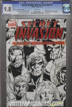 Secret Invasion Who Do You Trust WWC Exclusive Sketch Variant Cover CGC 9.8