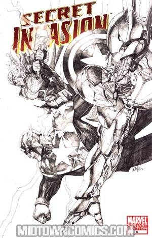 Secret Invasion #6 Cover D Incentive Leinil Francis Yu Sketch Variant Cover