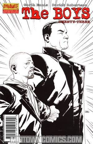 Boys #23 Cover C Incentive John Cassaday Black & White Variant Cover