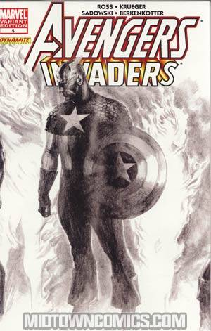 Avengers Invaders #5 Incentive Alex Ross Sketch Variant Cover