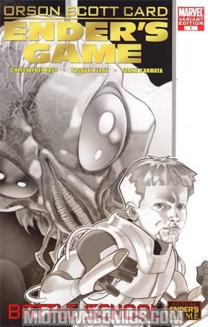 Enders Game Battle School #1 Incentive Sketch Variant Cover