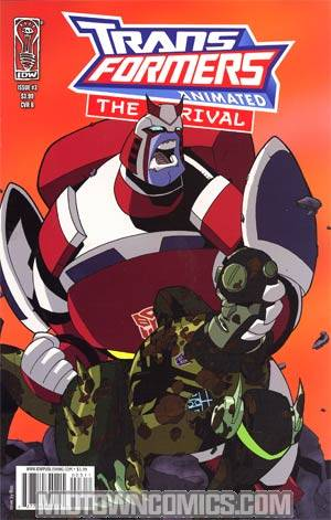 Transformers Animated Arrival #3 Regular Cover B