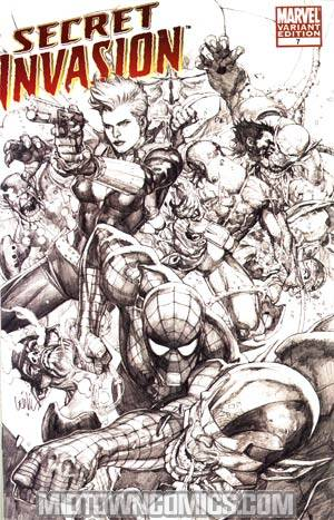 Secret Invasion #7 Cover C Incentive Leinil Francis Yu Sketch Variant Cover