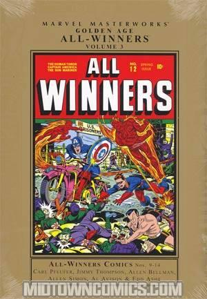 Marvel Masterworks Golden Age All-Winners Comics Vol 3 HC Regular Dust Jacket