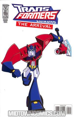 Transformers Animated Arrival #5 Incentive Optimus Prime Variant Cover