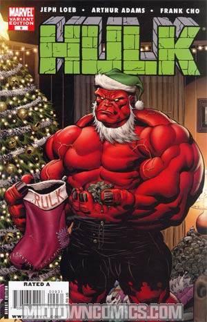Hulk Vol 2 #9 Variant Red Hulk Santa Cover