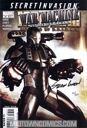 Iron Man Director Of SHIELD #33 Cover B DF Signed By Sean Chen