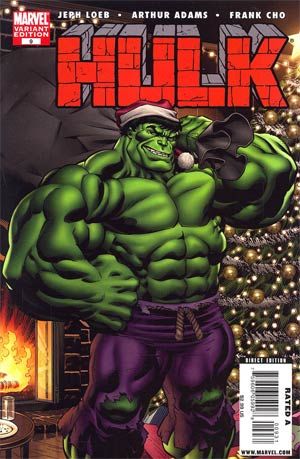 Hulk Vol 2 #9 Variant Green Hulk Santa Cover