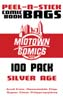 Silver Age Size Comic Book Bags Peel-N-Stick 100-Pack