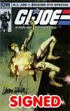 GI Joe Origins #19 Incentive GI Joe A Real American Hero #21 Replica Edition Signed By Larry Hama