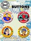 DC Comics 75th Anniversary Carded 4-Piece Button Set