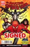 Amazing Spider-Man Vol 2 #666 Cover C Midtown Exclusive Greg Land Variant Cover Signed By Dan Slott (Spider-Island Prelude)